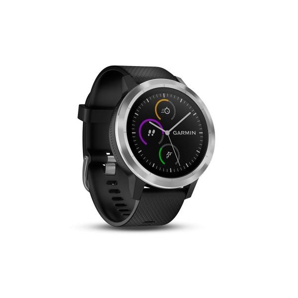 Garmin vivoactive 3 plata correa negra smartwatch gps bluetooth apps deportivas frecuencia cardíaca garmin pay