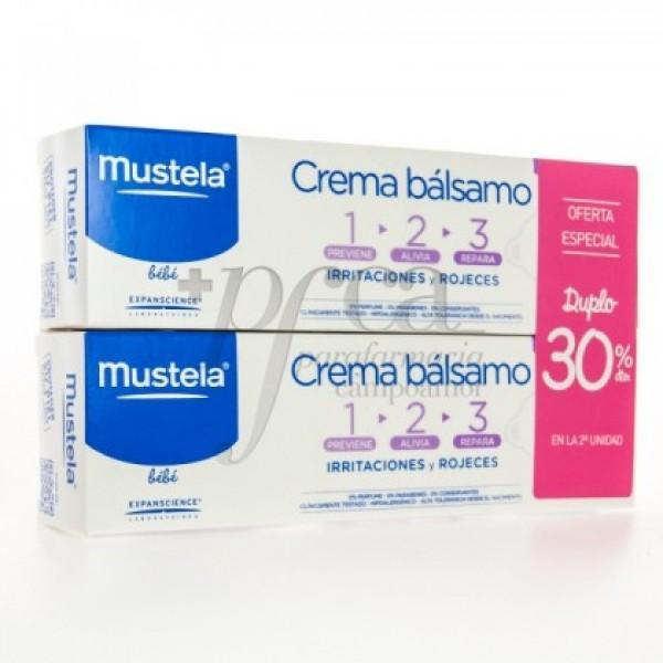 MUSTELA CREMA BALSAMO 1-2-3 2X 100ML PROMO