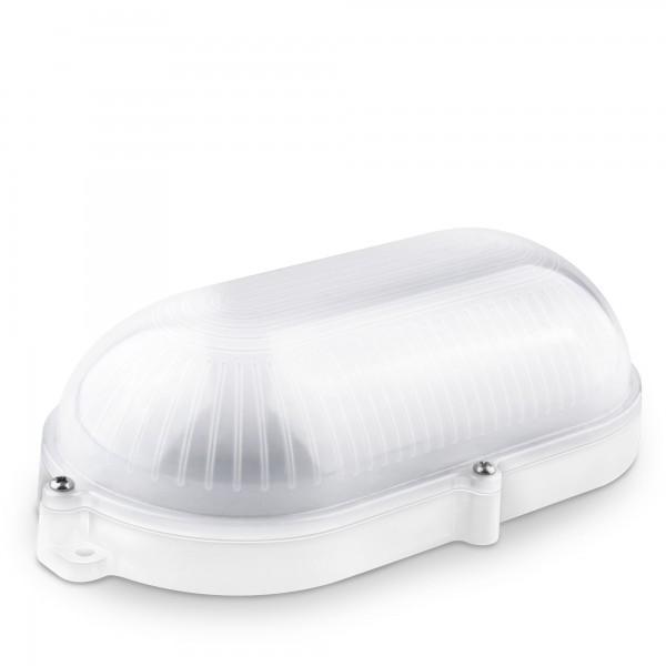 Aplique led oval blanco ext.ip65 9w.neut