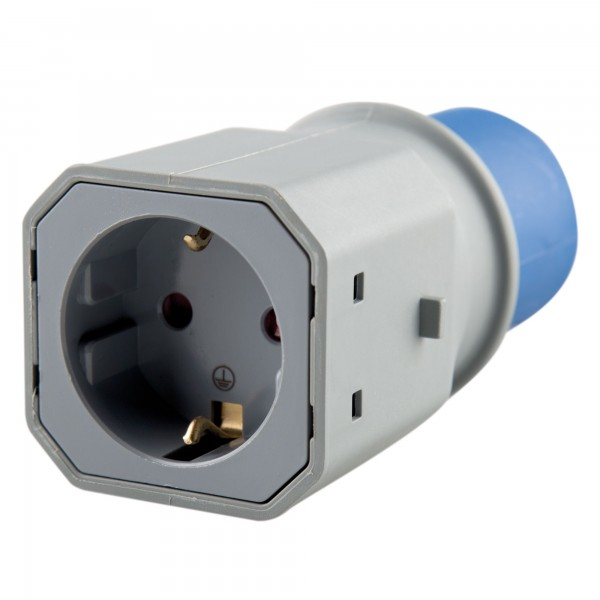 Adaptador industrial ip44 2p+t base 2p