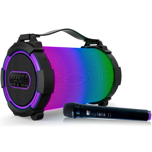 Ot by fonestar triumph multicolor altavoz y micrófono inalámbricos bluetooth 30w karaoke con batería recargable