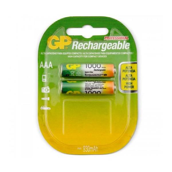 Gp pila recargable lr03 aaa 1.2v ni-mh 1000mah blister de 2 unidades