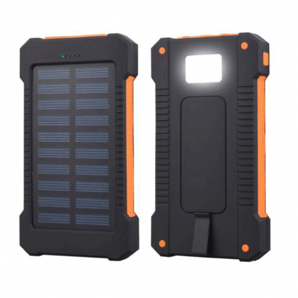 Akashi altpbsolarwat bateria solar externa 8000mah usb linterna led