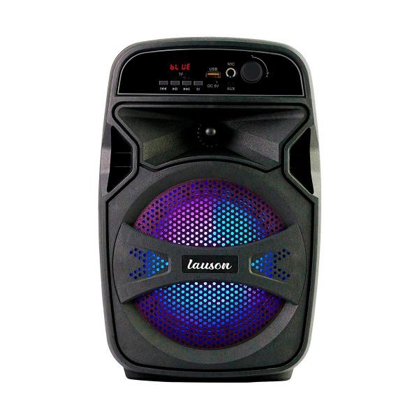 Lauson llx34 negro altavoz inalámbrico portátil 20w bluetooth karaoke fm luces usb sd