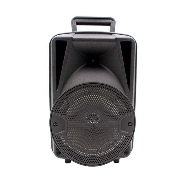 Lauson llx35 negro altavoz inalámbrico portátil 28w bluetooth karaoke fm luces usb sd
