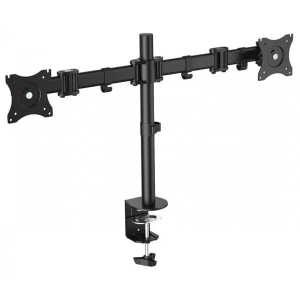 Fonestar stm-6211n soporte de mesa orientable para doble monitor de 13'' a 27'' 2x8kg vesa 75/100