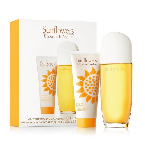 Elizabeth arden sunflowers eau de toilette 100ml vaporizador + body milk 100ml