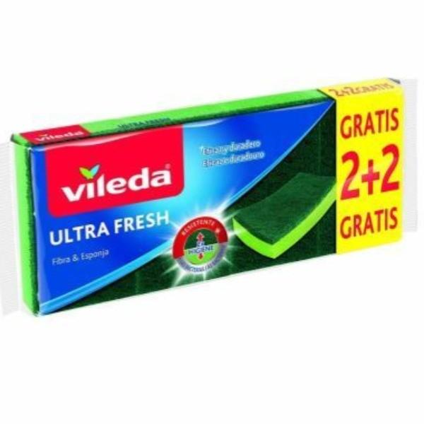 Vileda esponja Ultra Fresh 2 + 2 uds