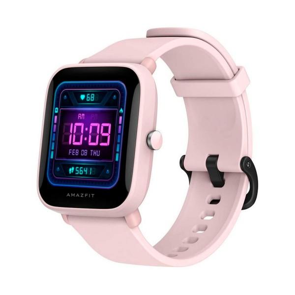 Xiaomi amazfit bip u pro rosa smartwatch 1.43'' táctil gps bluetooth pulsómetro notificaciones inteligentes