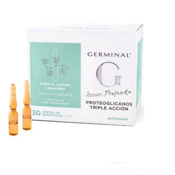 GERMINAL ACCION PROFUNDA PROTEOGLICANOS TRIPLE ACCION 30 AMPOLLAS